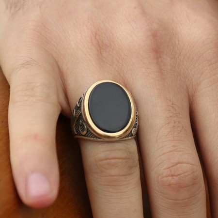 Tesbihane - 925 Ayar Gümüş Cihangir Yüzüğü