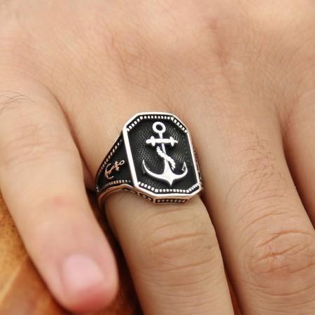 - 925 Ayar Gümüş Denizci Yüzüğü