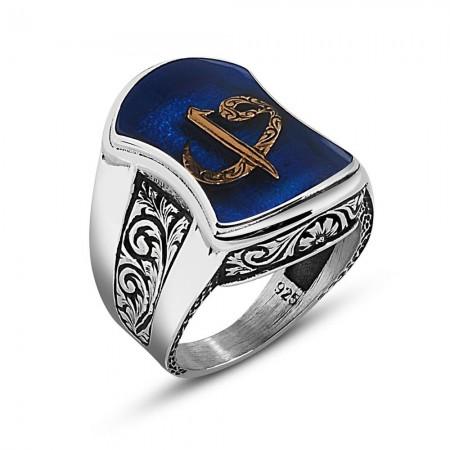 - 925 Ayar Gümüş Elif Vav Yazılı Aheng Yüzük