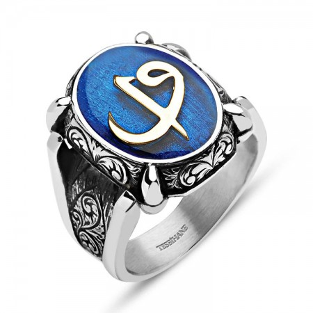 - 925 Ayar Gümüş Elif Vavlı Özel Tasarım Mineli Yüzük (M-2)