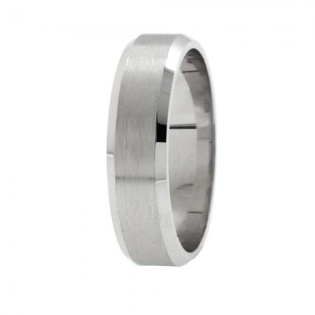 Tesbihane - Zarif Tasarım 925 Ayar Gümüş Erkek Alyans