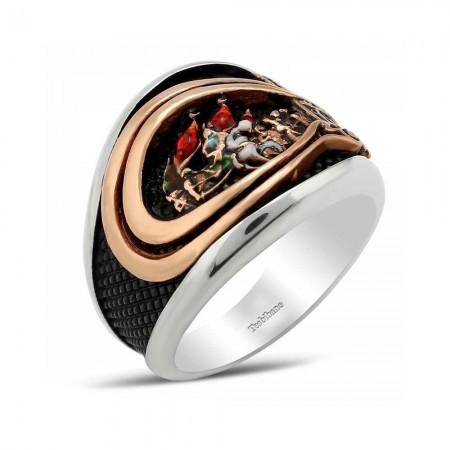 Tesbihane - 925 Ayar Gümüş Fetih 1453 Yüzüğü