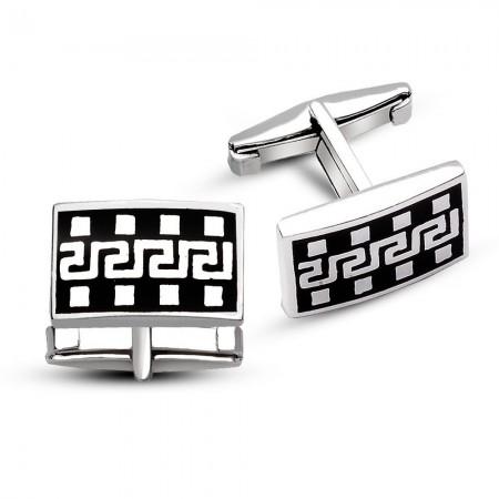 Tesbihane - Film Şeridi Tasarım 925 Ayar Gümüş Kol Düğmesi
