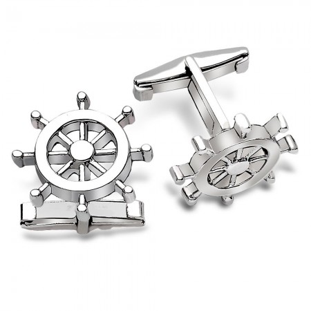 - 925 Ayar Gümüş Gemici Kol Düğmesi