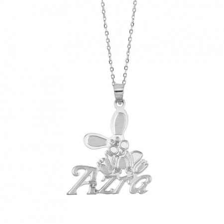 - 925 Ayar Gümüş Harf Yazılı Kolye (model 3)