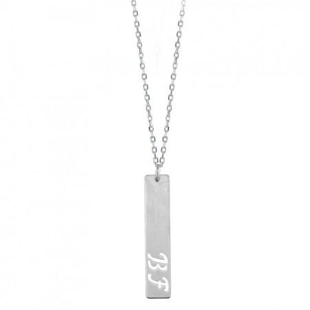 - 925 Ayar Gümüş Harf Yazılı Model Kolye