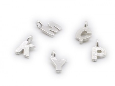- 925 Ayar Gümüş Harfli Tesbih Püskül Ucu Beyaz Model