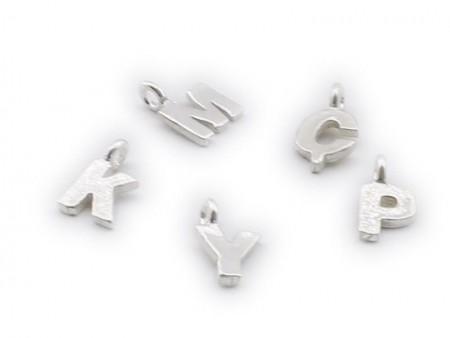 Tesbihane - 925 Ayar Gümüş Harfli Tesbih Püskül Ucu Beyaz Model