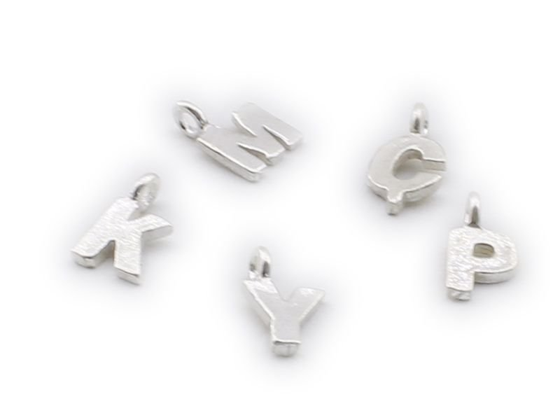 925 Ayar Gümüş Harfli Tesbih Püskül Ucu Beyaz Model