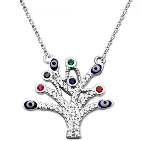 - 925 Ayar Gümüş Hayat Ağacı Kolye