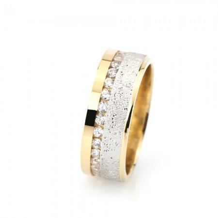 - Işıltılı Model Zirkon Taşlı 925 Ayar Gümüş Bayan Alyans