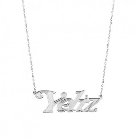 - 925 Ayar Gümüş İsim Yazılı Kolye (model 17)