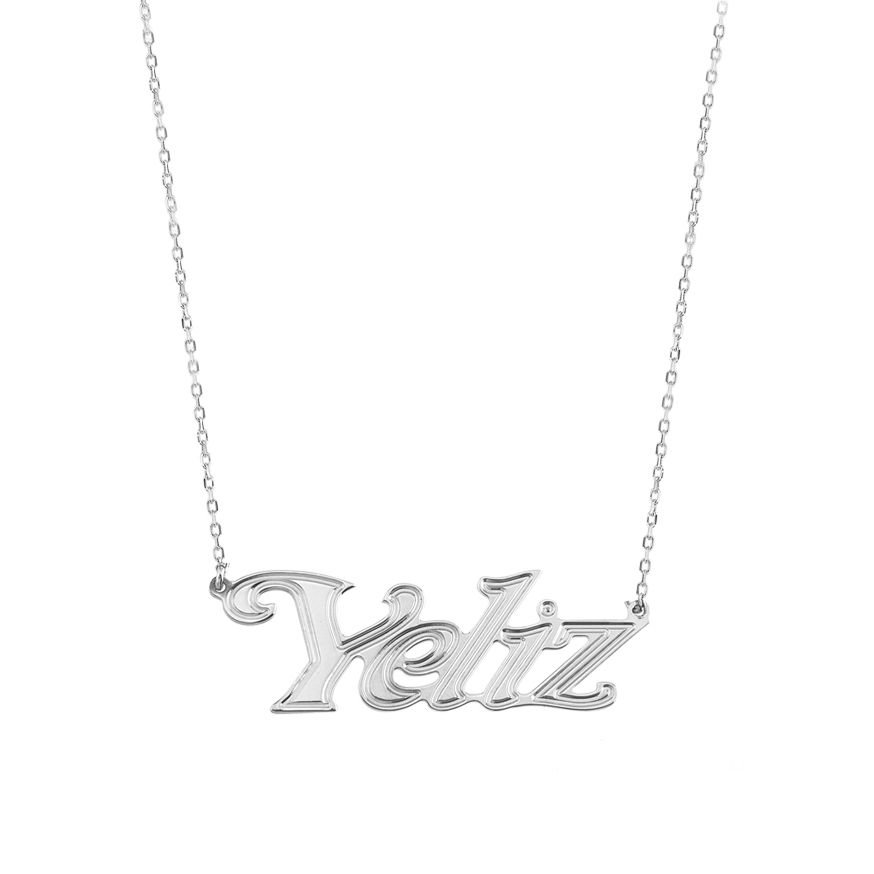 925 Ayar Gümüş İsim Yazılı Kolye (model 17)