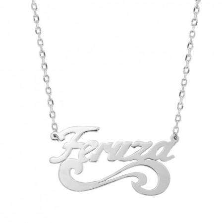 - 925 Ayar Gümüş İsim Yazılı Kolye (model 21)