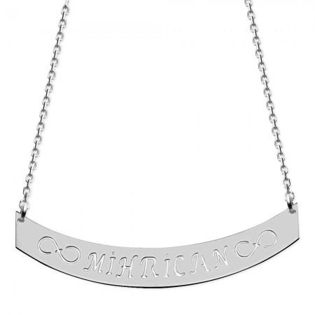 - 925 Ayar Gümüş İsim Yazılı Kolye (model-3)