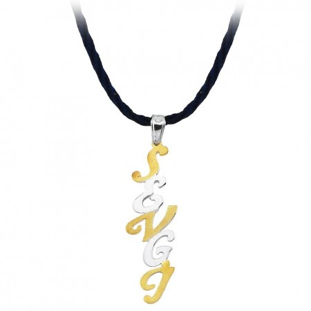 - 925 Ayar Gümüş İsim Yazılı Kolye (model-6)