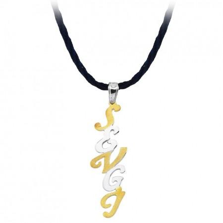 Tesbihane - 925 Ayar Gümüş İsim Yazılı Kolye (model-6)