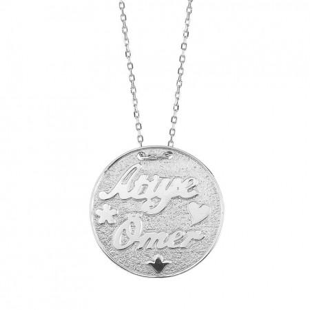 - 925 Ayar Gümüş İsim Yazılı Kolye (model 7)
