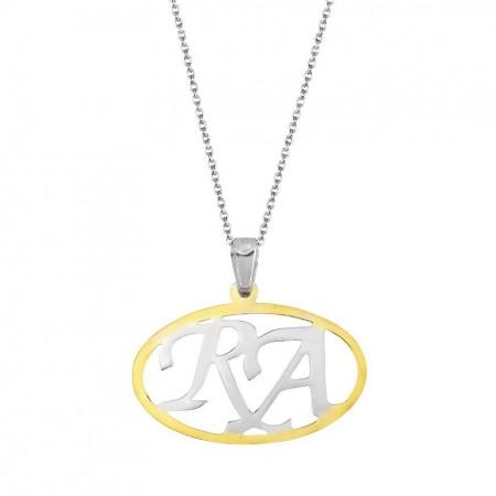 - 925 Ayar Gümüş İsim Yazılı Kolye (model 8)