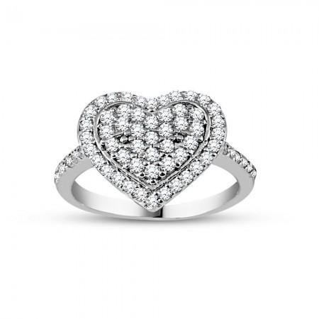 - 925 Ayar Gümüş Kalbim Bayan Yüzük
