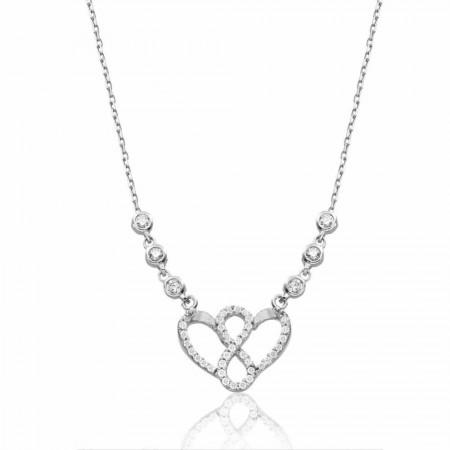 Tesbihane - 925 Ayar Gümüş Kalbimdesin Kolye
