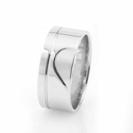 - Kalbimin Sahibi Tasarım 925 Ayar Gümüş Erkek Alyans