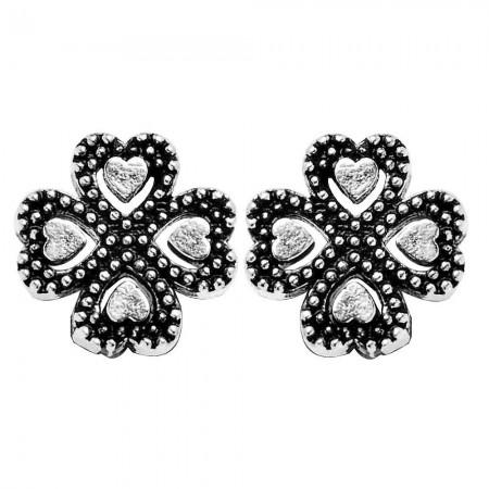 - 925 Ayar Gümüş Kalp Küpe