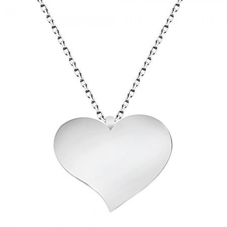 - 925 Ayar Gümüş Kalp Tasarım Kolye