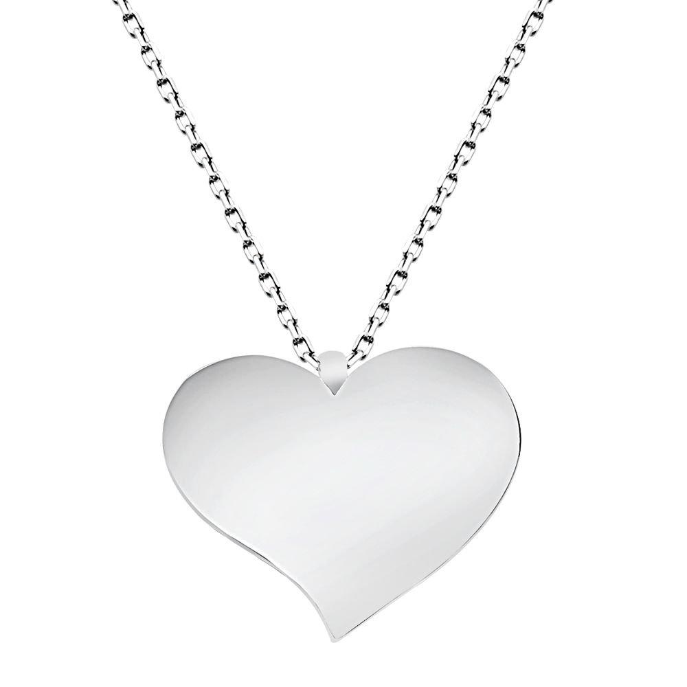 925 Ayar Gümüş Kalp Tasarım Kolye