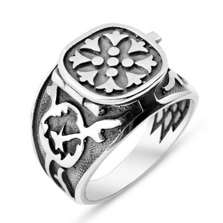 Tesbihane - Kapaklı 925 Ayar Gümüş Deli Yürek Yüzüğü