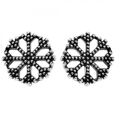 Tesbihane - 925 Ayar Gümüş Kar Küpe