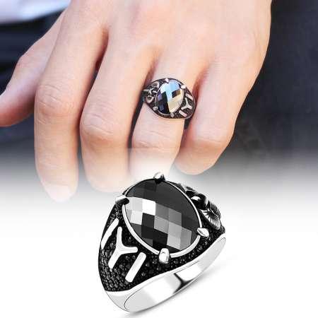 Tesbihane - 925 Ayar Gümüş Kara Pençe Yüzüğü