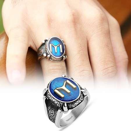 - 925 Ayar Gümüş Kayı Boyu Sancağı Yüzüğü