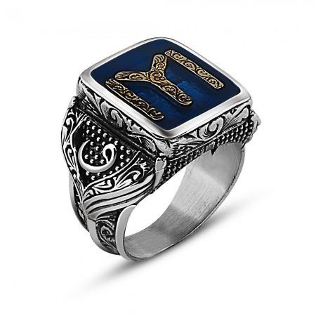 - 925 Ayar Gümüş Kayı Tasarım Maruf Yüzük