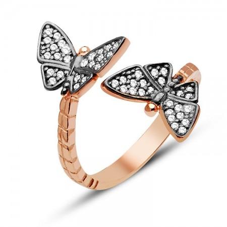 - 925 Ayar Gümüş Kelebek Model Yüzük