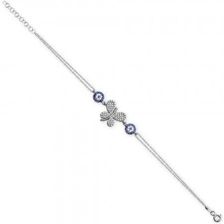 - 925 Ayar Gümüş Kelebek Tasarım Bileklik