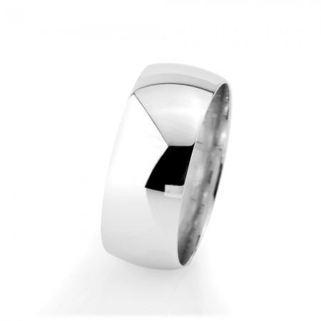- Klasik Tasarım Gri Renk Bombeli 925 Ayar Gümüş Bayan Alyans