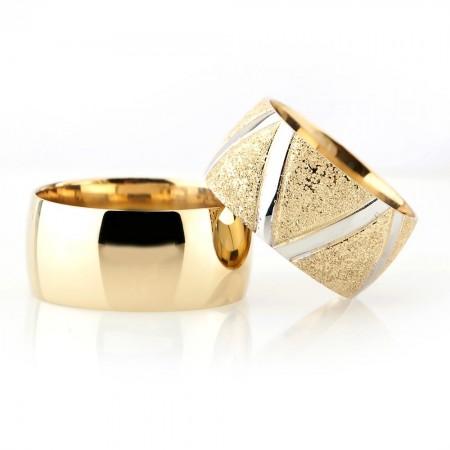 - 925 Ayar Gümüş Klasik Model Çift Alyans