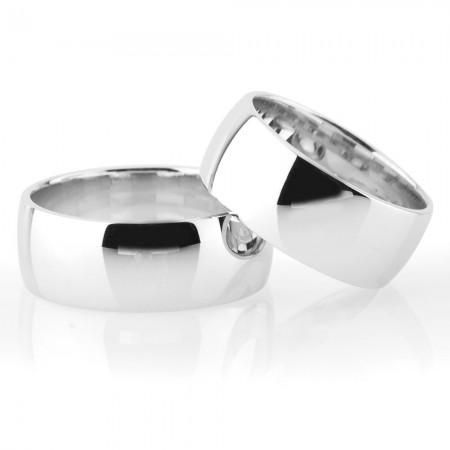 - Klasik Model Bombeli Tasarım 925 Ayar Gümüş Çift Alyans