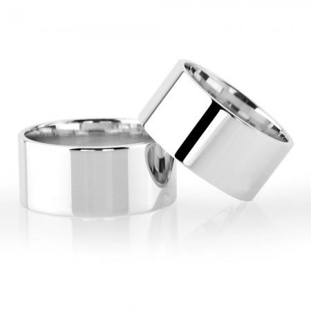 - Klasik Model Gri Renk 925 Ayar Gümüş Çift Alyans