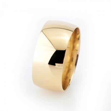 - Klasik Tasarım Gold Renk 925 Ayar Gümüş Erkek Alyans (M-1)