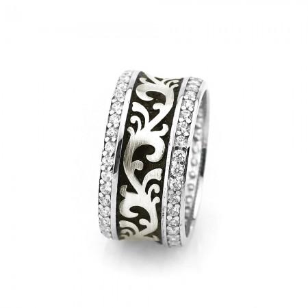- 925 Ayar Gümüş Klasik Motifli Bayan Alyans