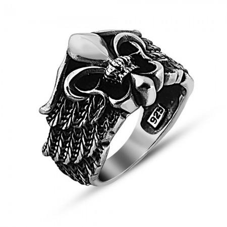 - 925 Ayar Gümüş Kral Tacı Yüzük