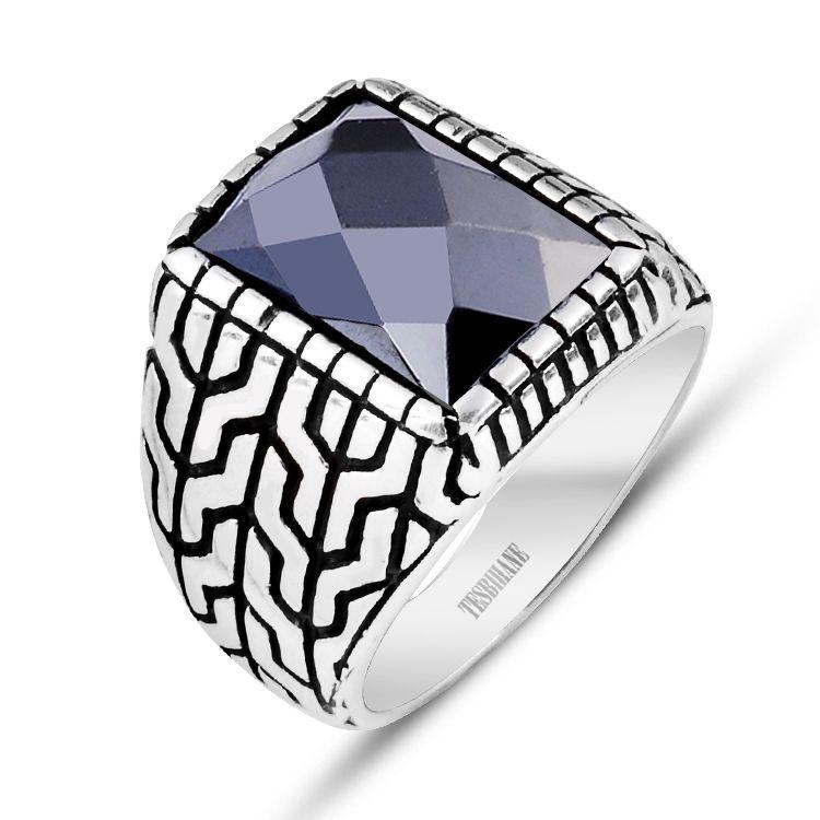 925 Ayar Gümüş Kristal Zirkon Taşlı Yüzük