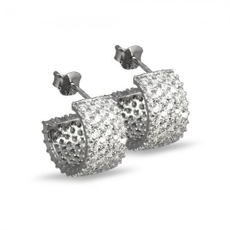 Tesbihane - 925 Ayar Gümüş Küpe (Model-2)