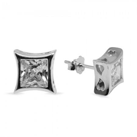 Tesbihane - 925 Ayar Gümüş Küpe (Model-36)