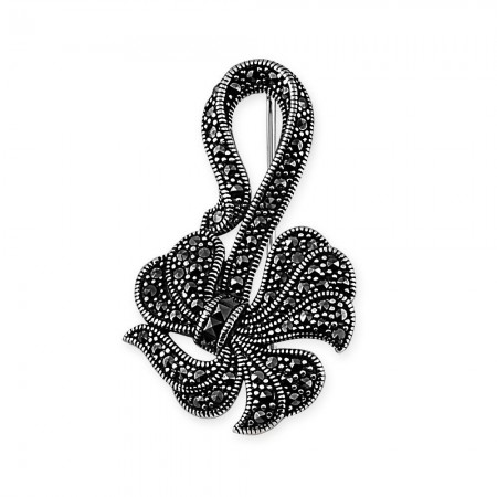 - 925 Ayar Gümüş Kurdale Figürlü Broş