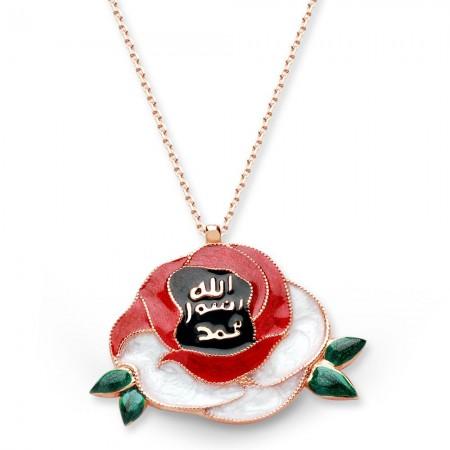 - 925 Ayar Gümüş Mine İşçilikli Güllerin Efendisi Kolye