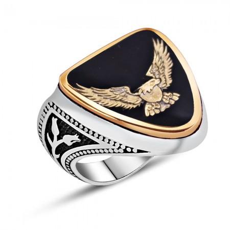 Tesbihane - 925 Ayar Gümüş Mineli Zihgir Yüzüğü