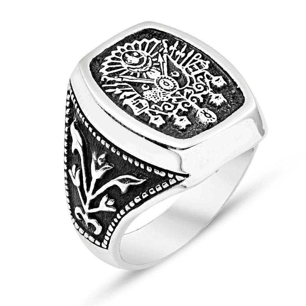 925 Ayar Gümüş Osmanlı Armalı Adanalı Dizisi Yüzüğü